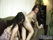 Two naughty bitches fuck like crazy