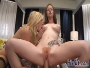 Allison and Nikki share a long shaft
