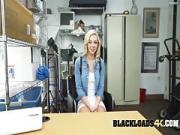 Hot Light-haired Likes a Big Black Meat in Her Pink Cunt