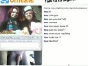 2 Cute Teens Didnt Expect To See Cock On Omegle But Help The Guy Cum Anyway