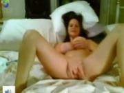 Hot petite fuck Plays With Her Big Tits And tight pussy Pussy On Her Bed