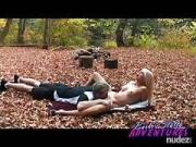 Barbi creampie in the great outdoors