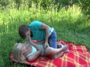 Naughty Blonde Is All Over Her Bf For Dirty Fun Outdoors