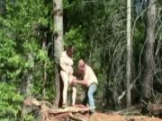 Sex Fantasy In The Forest Tied Up Slave Gets Whipped And Gets Her Pussy Eaten Out