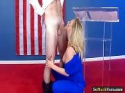 Mature milf Cherie Deville gets boned by electoral candidate