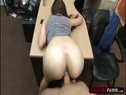 Bubble butt brunette gets banged hard