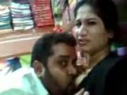 Latina Sucks Her BFs Cock In A Store And Lets Him Suck Her Tit