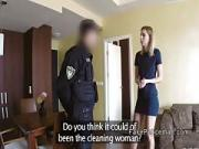 Robbed blonde gets help from fake cop