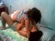 Dude Tapes 2 Hot Girls Making-Out And Teasing On The Bed