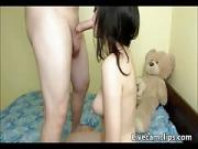 What Riding cock badjojo brunette teen
