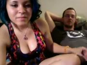 Dirty Talking Girl Fucks Her Nerdy BF For Strangers On cam
