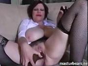 my creamy solo with large dildo Laura 32 years