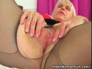 English gilf Lady Sextasy needs sexual release