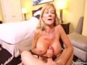 Big boobs amateur granny enjoys hard anal POV