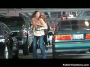 Girl walking her dog gets violated
