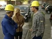 Nicolette Blue HouseWife fucked by two construction Workers