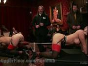 Hot MILF Sex Slaves Serve The House