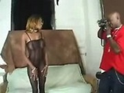 Sexy Ebony Chick In Bodystocking