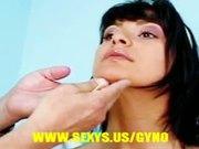 Hot brunette gyno exam