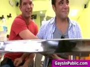 Exhibitionist gay cock sucking in public