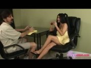 Foxy Babe Uses Her Petite Feet For Footjob Gets Cum Shot On Feet