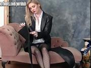 Hot busty blondes tease feeling every inch of sexy leather thigh high boots