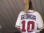 Sweet Georgia Wearing Purple Lingerie