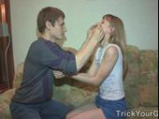Surprise fuck and double cumshot