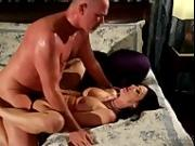 Hot brunette getting fucked by her man.
