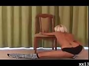 Acrobatic Blonde Teen