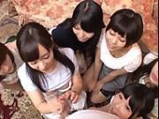 Cute girls one man CFNM play