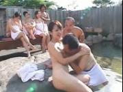 Japanese Hot Spring Group Sex