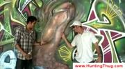 White guy tries to pick up black graffiti artist