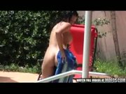 Smoking Hot College Teen Fucks By The Pool