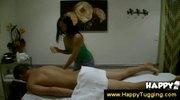 Asian masseuse checks out a guys dick