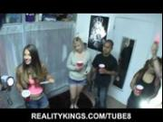 Six girls in a college dormroom leads to some hardcore fucking