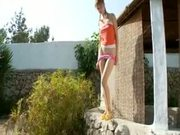 My girlfriend peeing outdoors