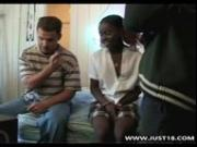 Ebony Schoolgirl Getting Interracial Threesome