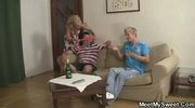 Her BF's mom and dad seduce sweet girl into threesome