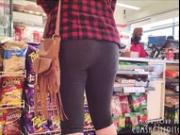 Young College Babe At The Store