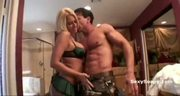 Busty horny blonde does terrific soapy cock massage