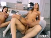 The Switch - Eveline Dellai & Silvia Dellai trick bf into threesome