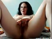 Wet Mom Louise fingering both holes
