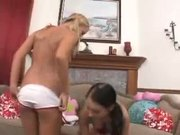 Gullible teens Ashley Jensen and Stephanie Cane