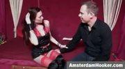 Amsterdam prostitute sucking dick