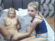 Blonde Teens on Webcam Part 1 [JustFuckHer]