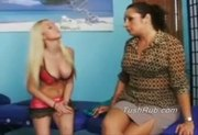 Vanna gets maasage by Maddison, the hottest massuse in town