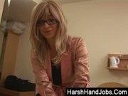 Mai Bailey gives a harsh handjob