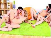 Raunchy teens having foursome