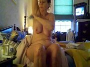 BBW gets naked but doesn't know she is being recorded